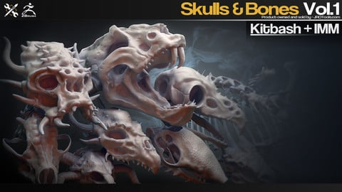 Kitbash+IMM - Skulls&Bones Vol.1