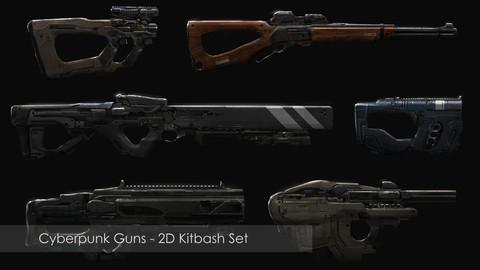 Cyberpunk Gun Kitbash Set