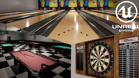 [UE4] Bowling, Pool & Darts - Pub Games Pack