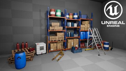 [UE4] Modular Warehouse Props Pack