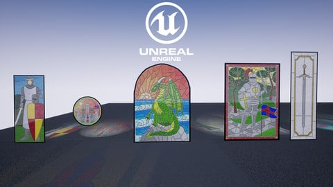 [UE4] Stained Glass Pack
