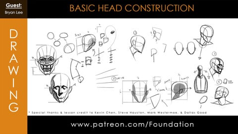 Foundation Art Group - Basic Head Construction with Bryan Lee