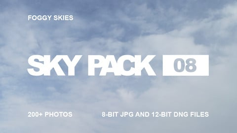 Sky Pack 08 / Foggy skies / Clouds reference pack