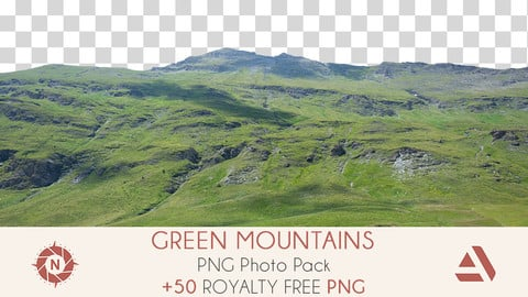 PNG Photo Pack: Green Mountains