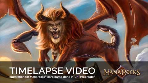 MANTICORE - Procreate Illustration for Manarocks® Card Game