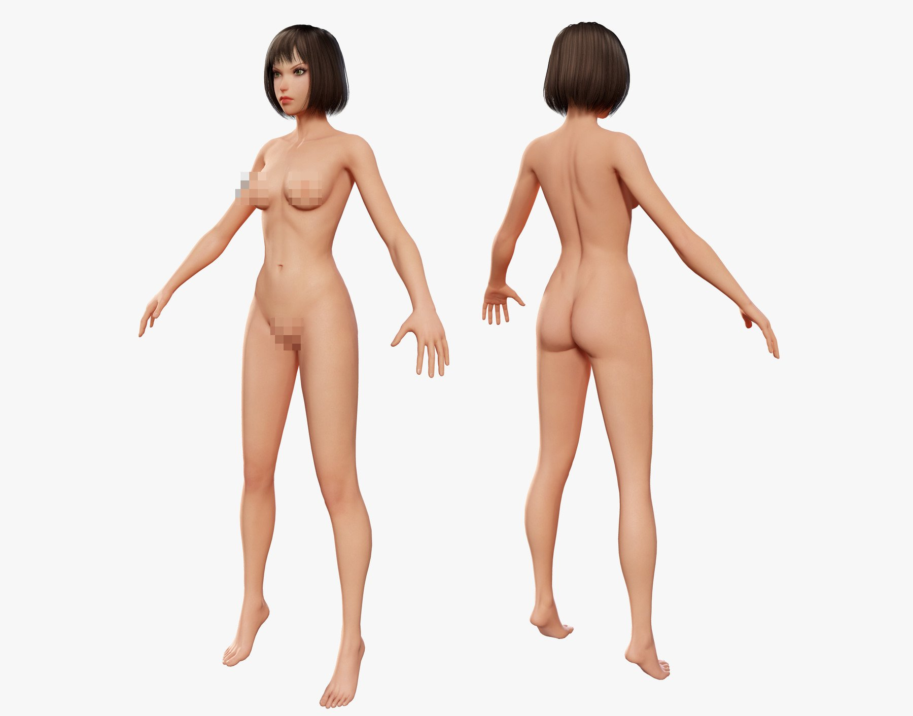 Naked women cartoon