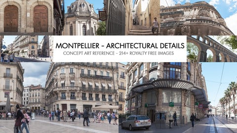 MONTPELLIER - ACHITECTURAL DETAILS - PHOTO REFERENCE