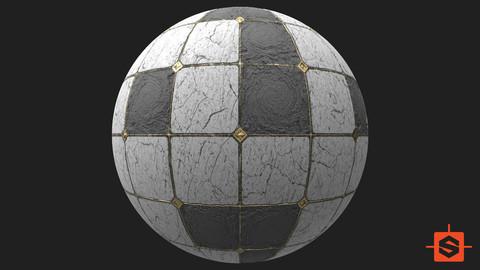 PBR Marble Floor Damaged Texture