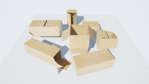 Boxes LOW-POLY PBR