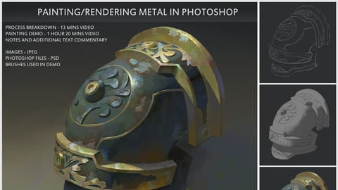 Painting/Rendering metal in photoshop