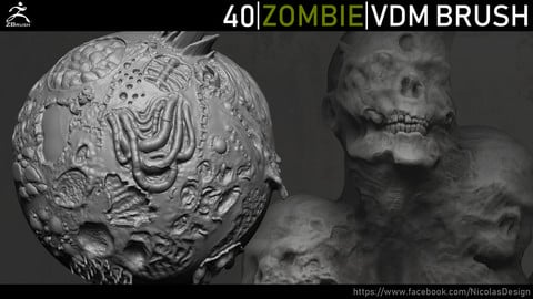 Zbrush - Zombie VDM Brush