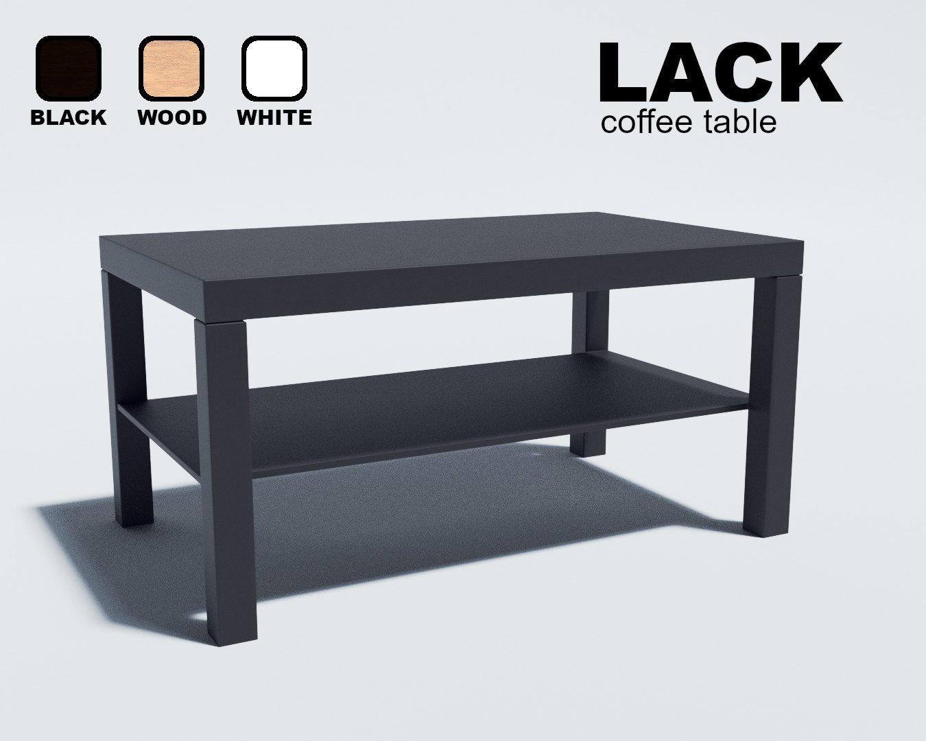 Artstation Ikea Lack Coffee Table Game Assets