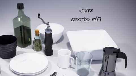 kitchen essentials vol01 for 3dsMax and Corona