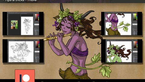 Painting A Satyr in Cell-Shaded Style Tutorial + PSD