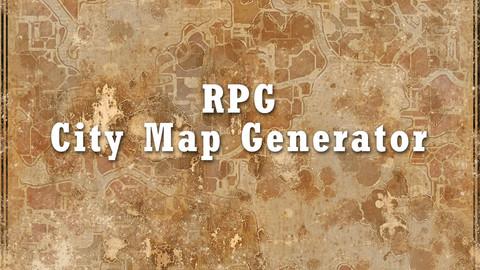 Random RPG City Map Generator