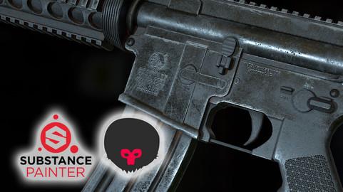 Substance Painter Tutorial - M4 Rifle PBR Texturing