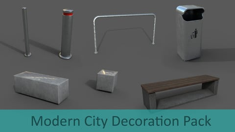 Modern City Decoration Pack