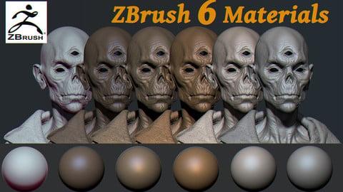 ZBrush 6 Materials