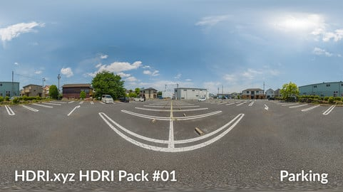 Parking - 16K 32bit HDRI Spherical Panorama (from Pack #1)