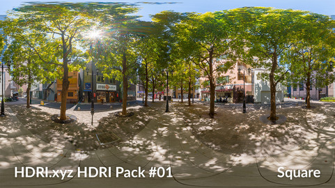 Square - 16K 32bit HDRI Spherical Panorama (from Pack #1)
