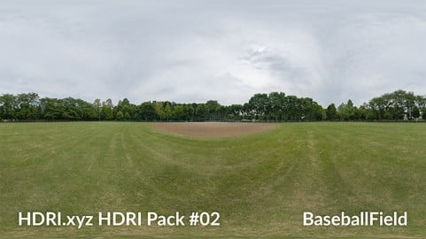 Baseball Field - 16K 32bit HDRI Spherical Panorama (from Pack #2)