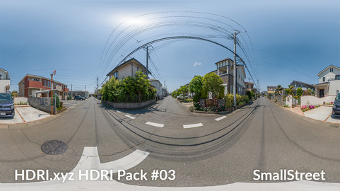Small Street - 16K 32bit HDRI Spherical Panorama (from Pack #3)