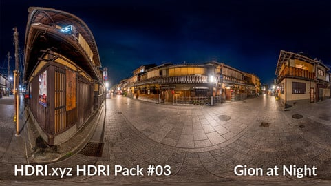 Gyon at Night - 16K 32bit HDRI Spherical Panorama (from Pack #3)