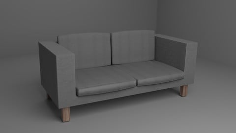 Low poly sofa