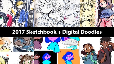 2017 Sketchbook + Digital Doodles