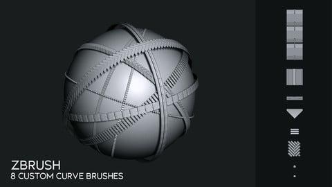 Zbrush - Custom Curve Brushes