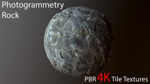 Photogrammetry Rock_1 PBR 4k Tile Texture