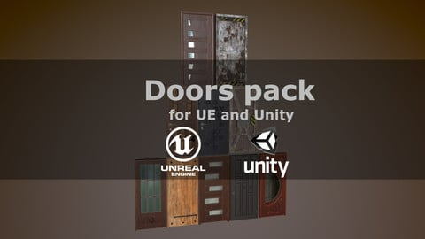 Doors pack for UE and Unity