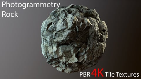 Photogrammetry Rock_2 PBR 4k Tile Texture