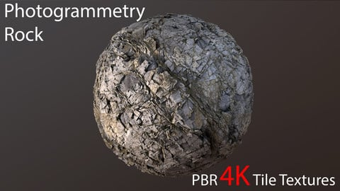Photogrammetry Rock_3 PBR 4k Tile Texture