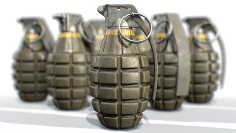 American Frag hand grenade MK2