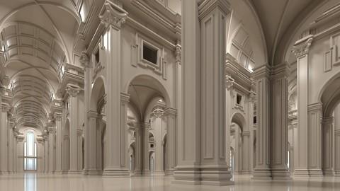 Classical Historic Interior Scene