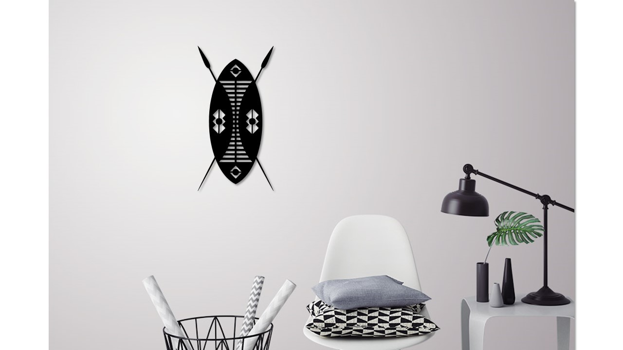 African Shield for wall decoration by 3D PRINT LINES