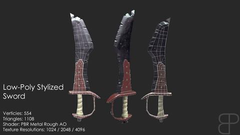 Low-Poly Stylized Sword