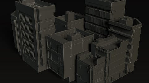 MechNuggets_05Buildings Kitbash || Oculus Medium Stamps