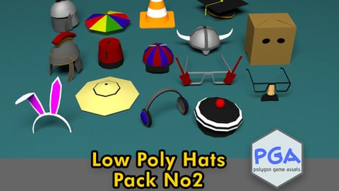 Low Poly Hats No2