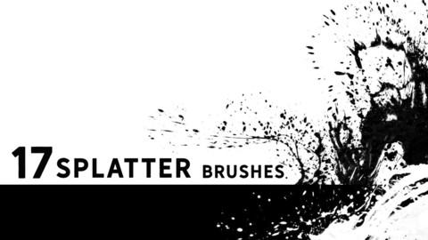 Circular splatter brushes