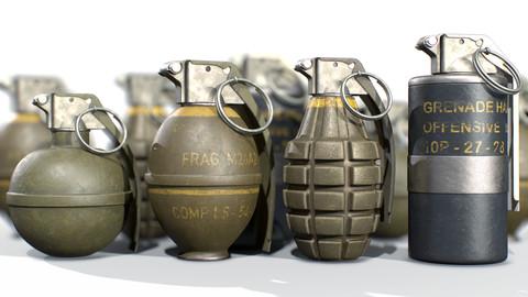 American Frag hand grenade PACK M26 M67 MK2 MK3
