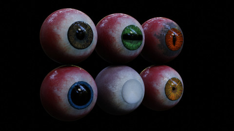 Realistic 3D hand painted Eyes
