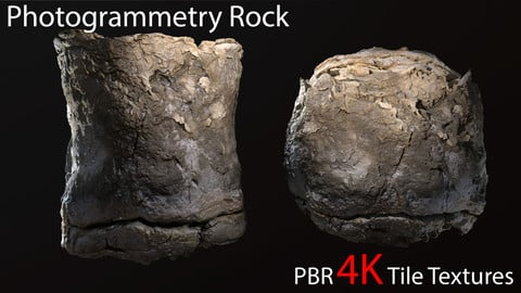 Photogrammetry Rock_5 tile PBR textures.