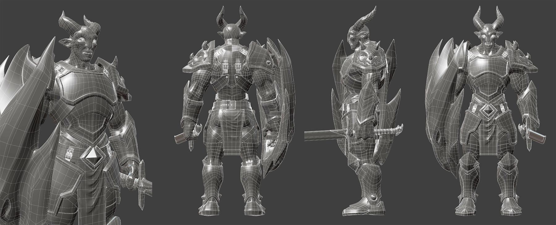 Pierrick PICAUT - Dragon Knight - Blender 3D character