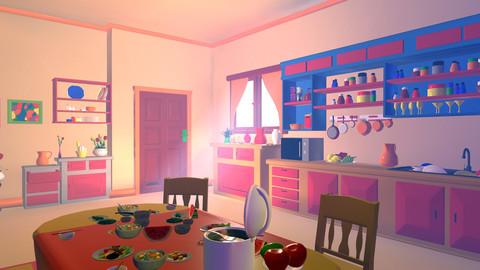 Asset - Cartoons - Kitchen - 3D model