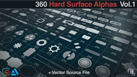 360 Hard Surface Alphas [Pack 01] by AlexTSK