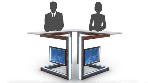 TV Studio News Desk 3