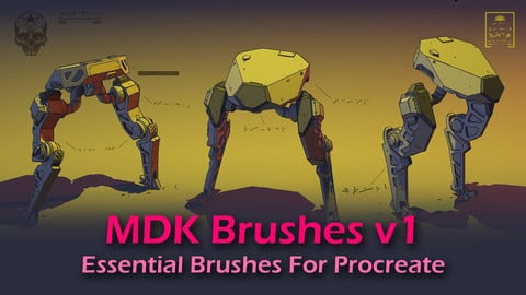 MDK Brushes v1 - Essential Brushes For Procreate