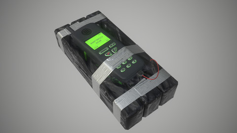 Remote C4 Bomb ~ PBR Game Ready Asset